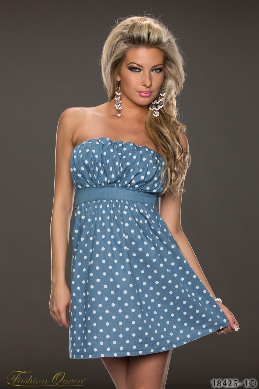 e710ec057784 Fashion Queen - Dámske oblečenie a móda - Bodkované minišaty bez ...