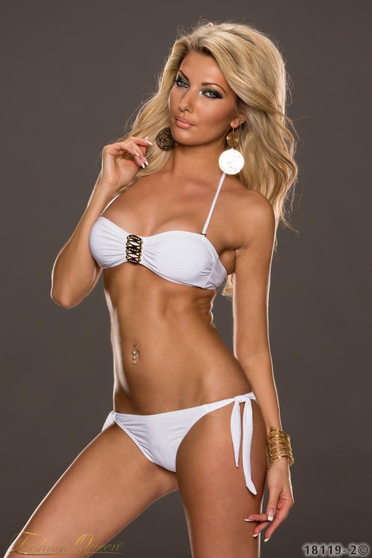 0f8ca5cc5042 Fashion Queen - Dámske oblečenie a móda - Biele plavky