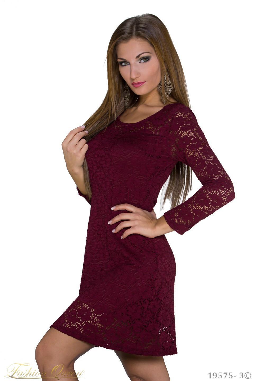 61dc6afcbe Fashion Queen - Dámske oblečenie a móda - Čipkované šaty s dlhým rukávom