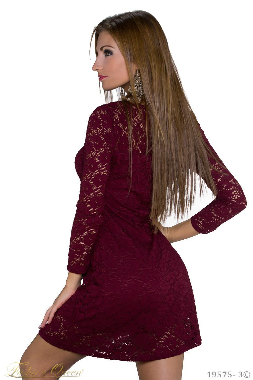 c433ca92025d Fashion Queen - Dámske oblečenie a móda - Čipkované šaty s dlhým rukávom