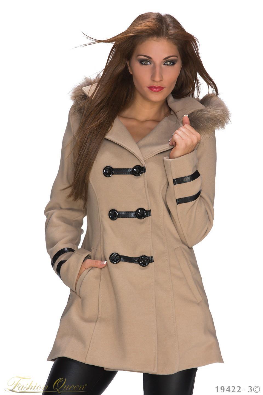 a7da82dd18 Fashion Queen - Dámske oblečenie a móda - Zimný kabát s kapucňou