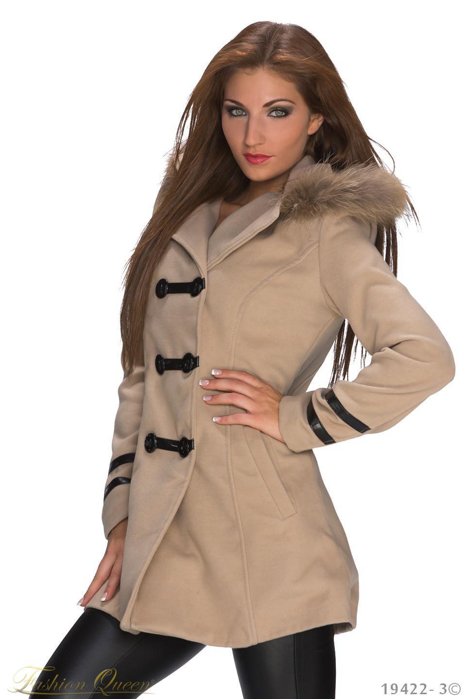 4b28904ba Fashion Queen - Dámske oblečenie a móda - Zimný kabát s kapucňou