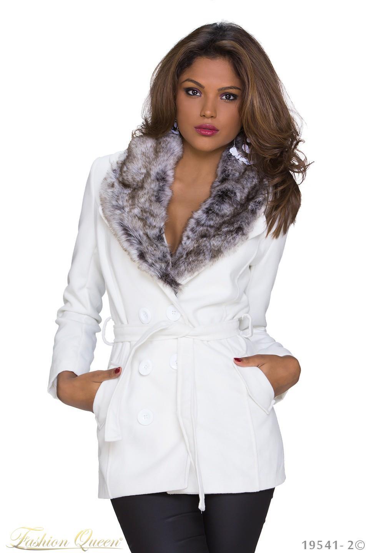 Fashion Queen - Dámske oblečenie a móda - Zimný kabát s kožušinou 0328a7f3c10