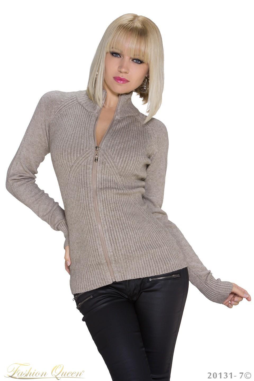 6fb63798e189 Fashion Queen - Dámske oblečenie a móda - Sveter na zips