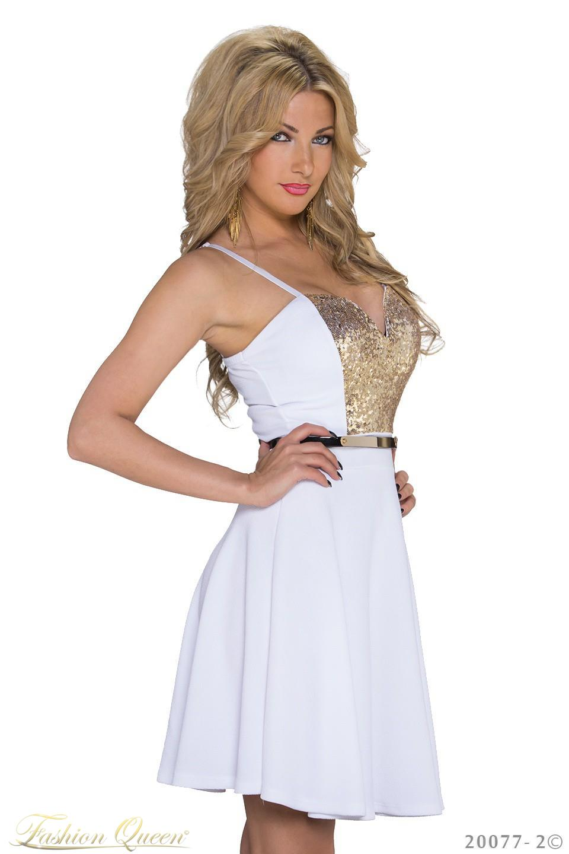 Fashion Queen - Dámske oblečenie a móda - Biele šaty c309414bedc