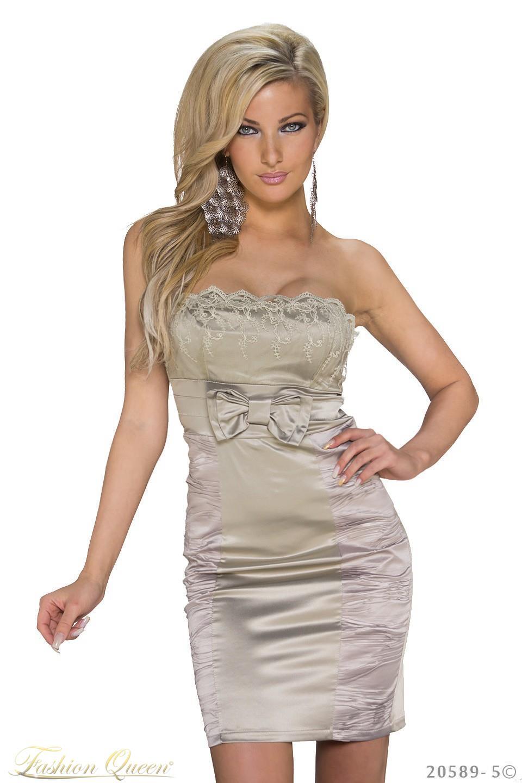 Fashion Queen - Dámske oblečenie a móda - Šaty saténové b012b4286fd