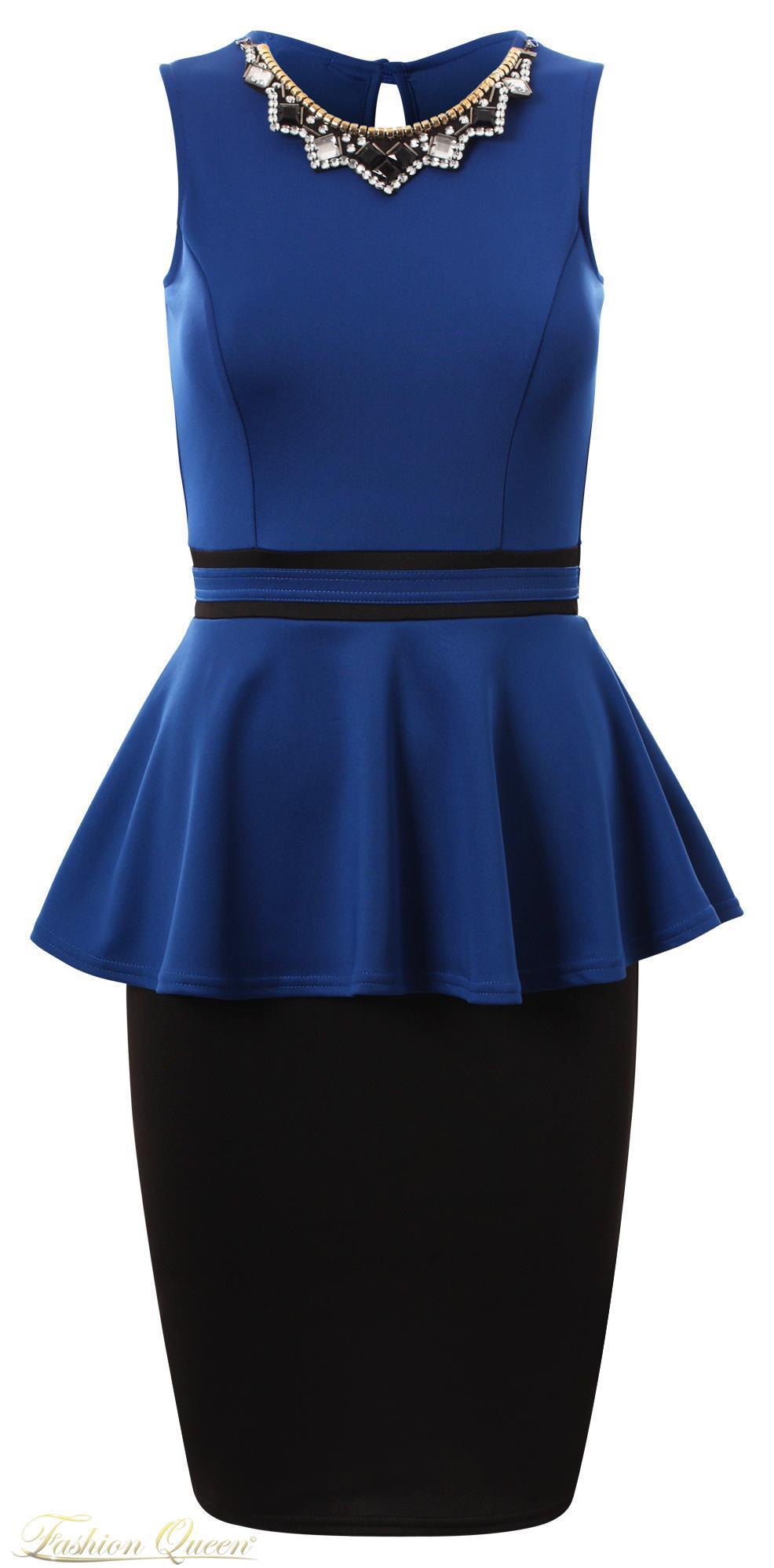 d17f0f25b9e2 Fashion Queen - Dámske oblečenie a móda - Čierno-modré šaty