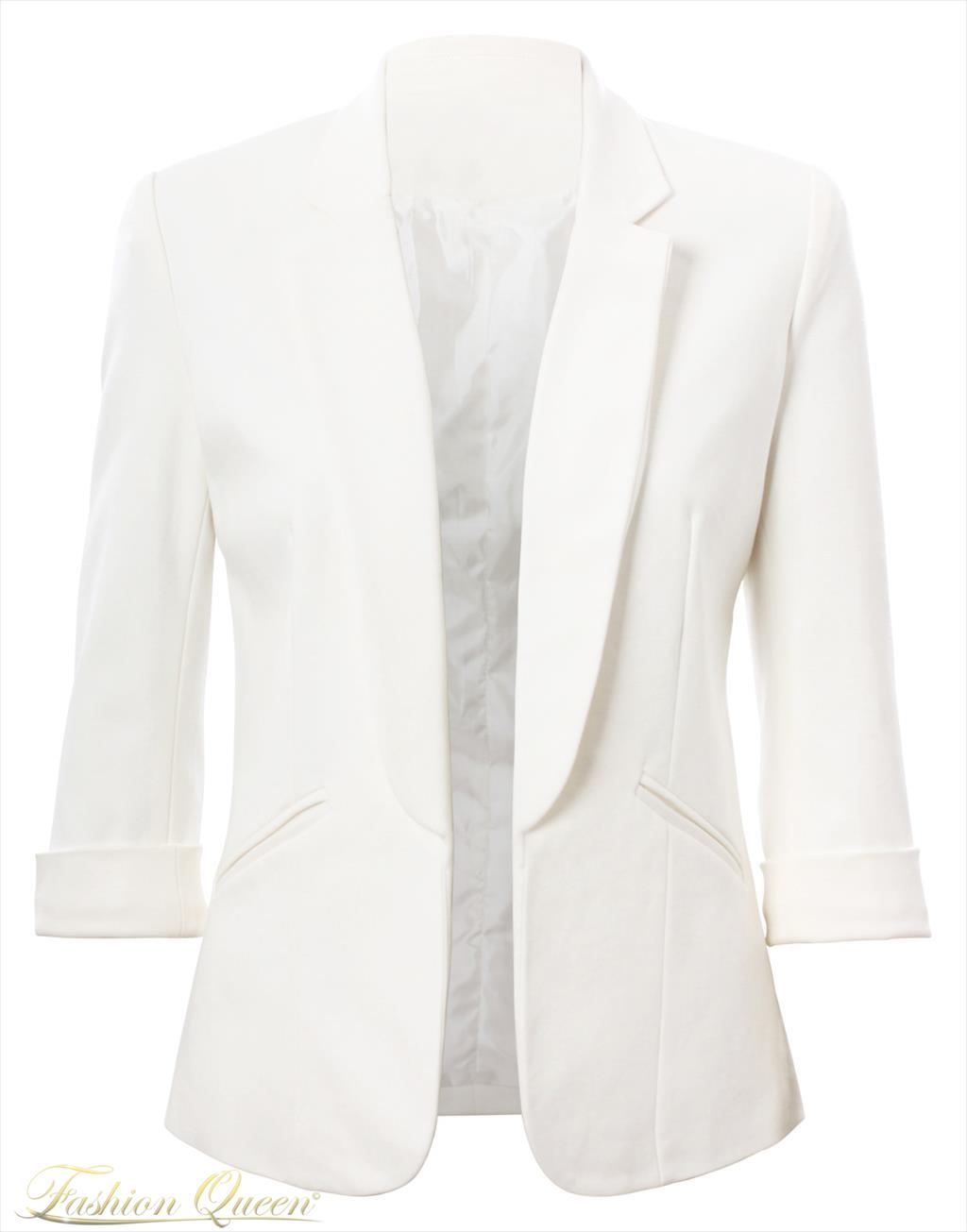 Fashion Queen - Dámske oblečenie a móda - Biele sako 25fc096f895