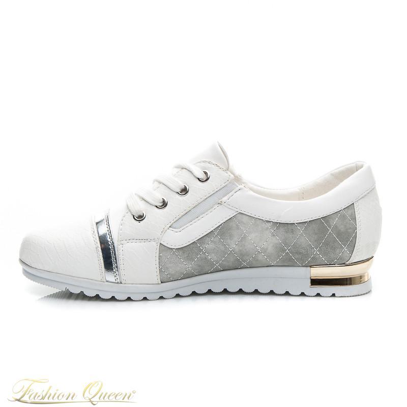 Fashion Queen - Dámske oblečenie a móda - Bielo-zlaté tenisky 7627f6c3bb0