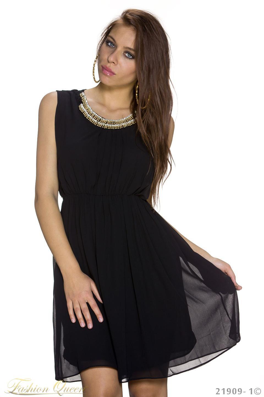 2faa9a65ecd3 Fashion Queen - Dámske oblečenie a móda - Čierne šaty so zlatou ...