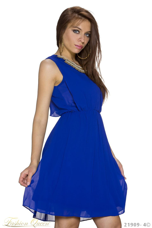 4f62925b580e Fashion Queen - Dámske oblečenie a móda - Modré šaty so zlatou ...