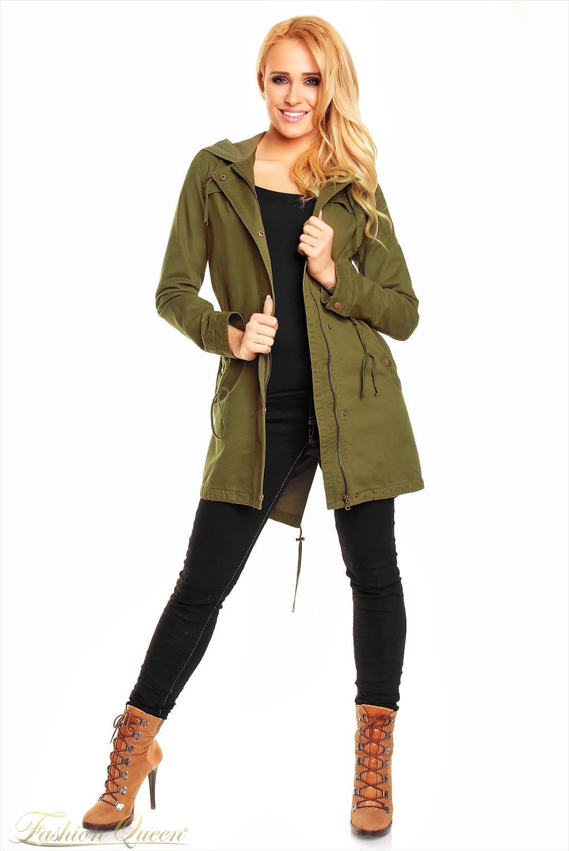 Fashion Queen - Dámske oblečenie a móda - Parka s kapucňou 4d644f0bca1