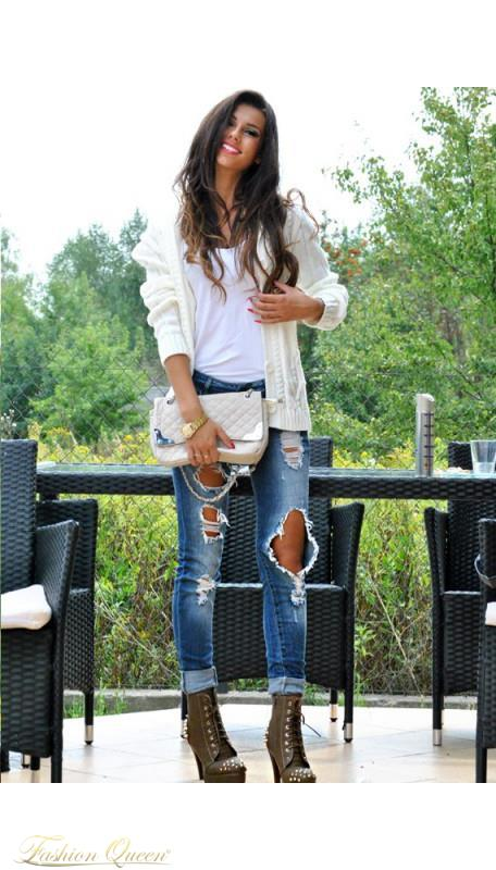 98f6154c3aee Fashion Queen - Dámske oblečenie a móda - Sveter na gombíky