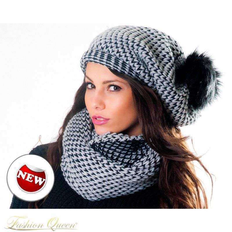 7ffd9e921 Fashion Queen - Dámske oblečenie a móda - Dámsky set – čiapka+šál