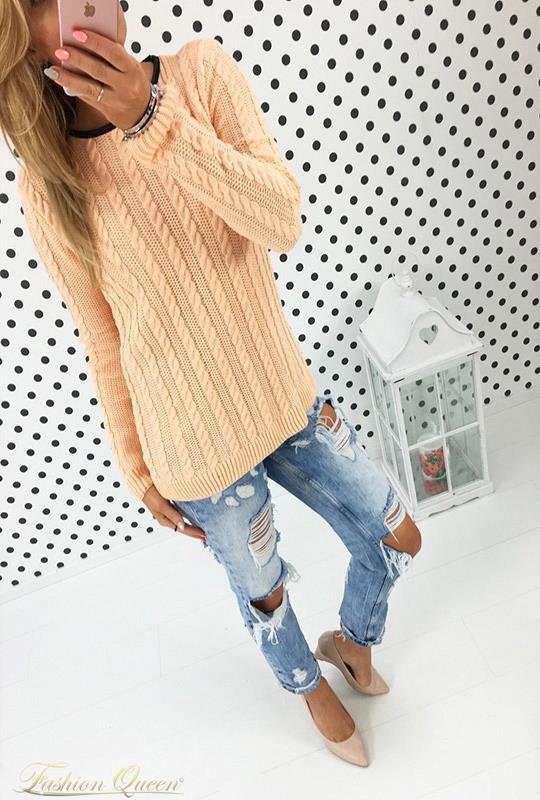 ec561fef7664 Fashion Queen - Dámske oblečenie a móda - Teplý pulóver
