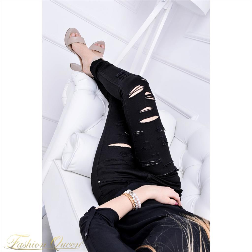 8c22b2dddf32 Fashion Queen - Dámske oblečenie a móda - Čierne nohavice s dierami