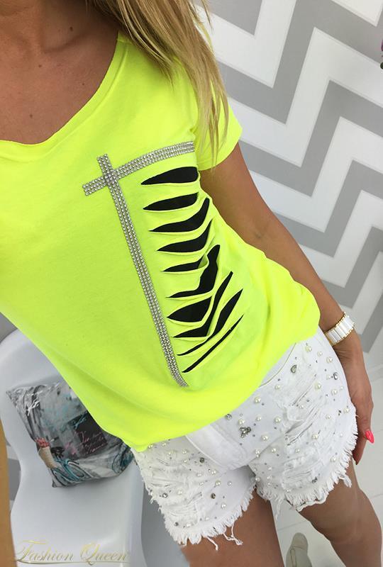 afffe5b082d6 Fashion Queen - Dámske oblečenie a móda - Neónové tričko