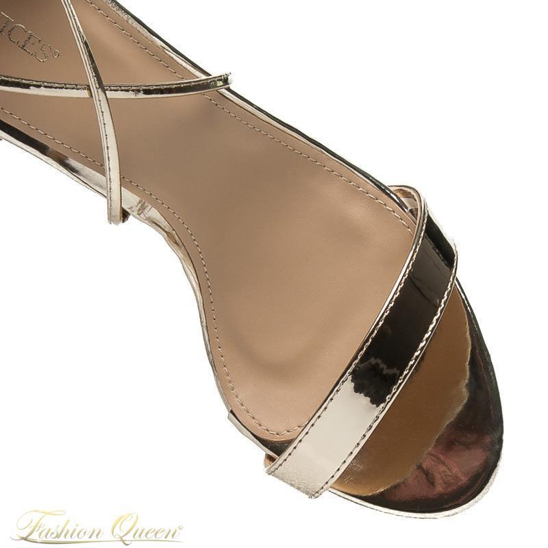 4153b6f7901e Fashion Queen - Dámske oblečenie a móda - Zlaté sandále