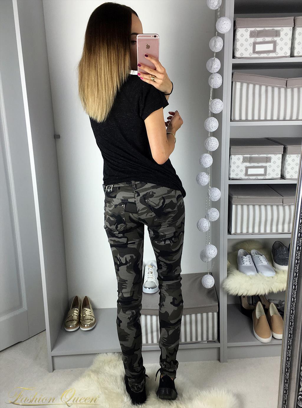 59420eaadaef Fashion Queen - Dámske oblečenie a móda - Maskáčové nohavice