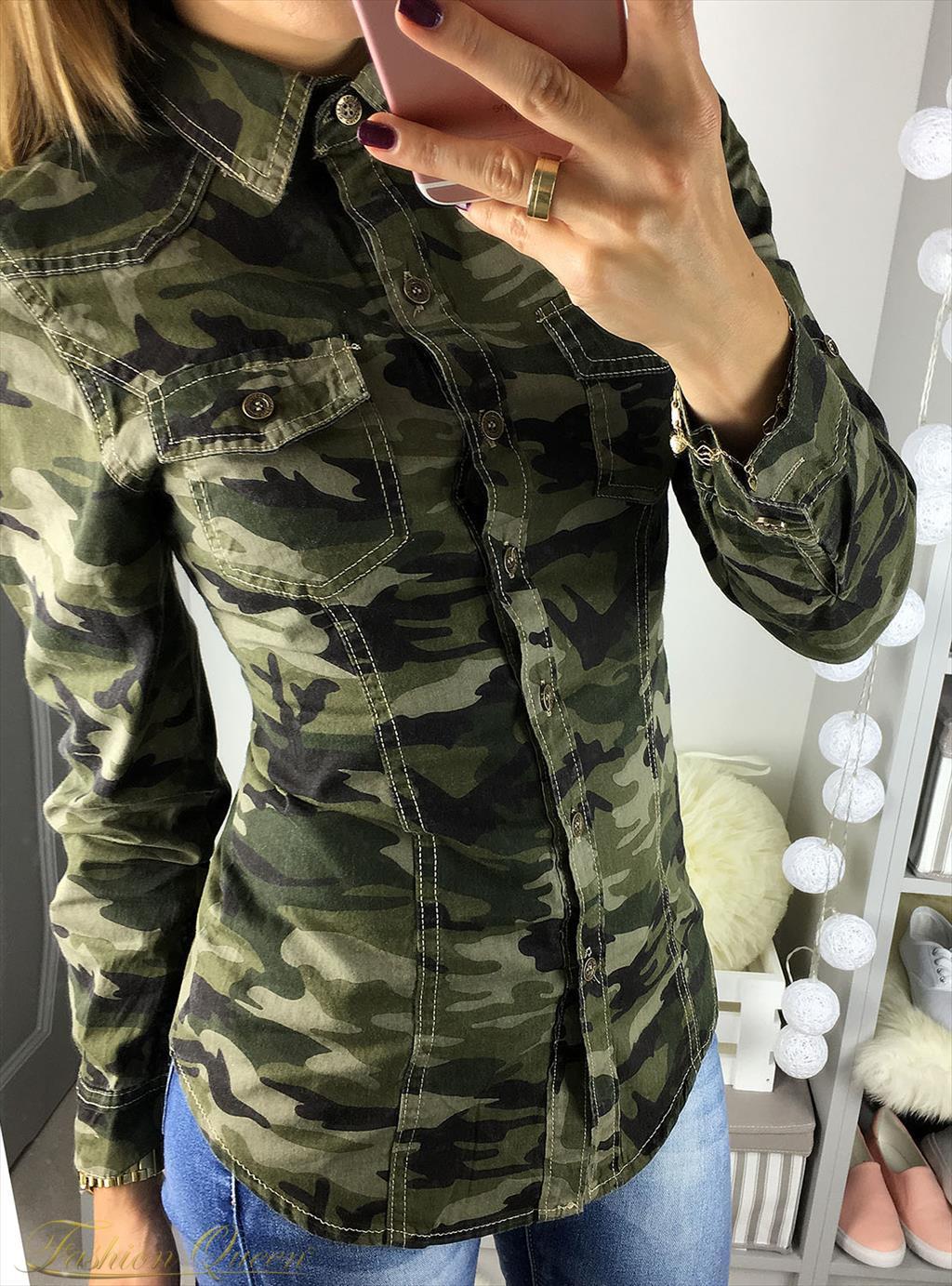 c1828ada4 Fashion Queen - Dámske oblečenie a móda - Army košeľa