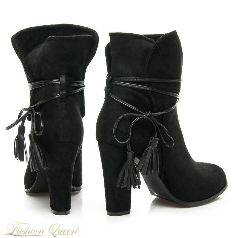 805e0c02c332 Fashion Queen - Dámske oblečenie a móda - Kotníkové čižmy čierne