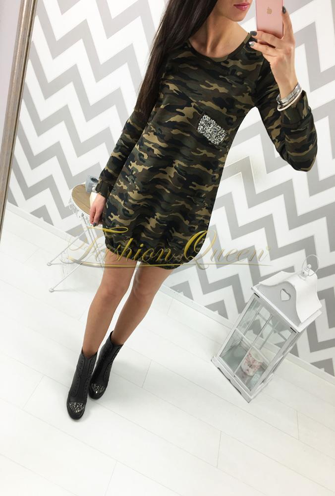 8a1ca505ba67 Fashion Queen - Dámske oblečenie a móda - Army šaty