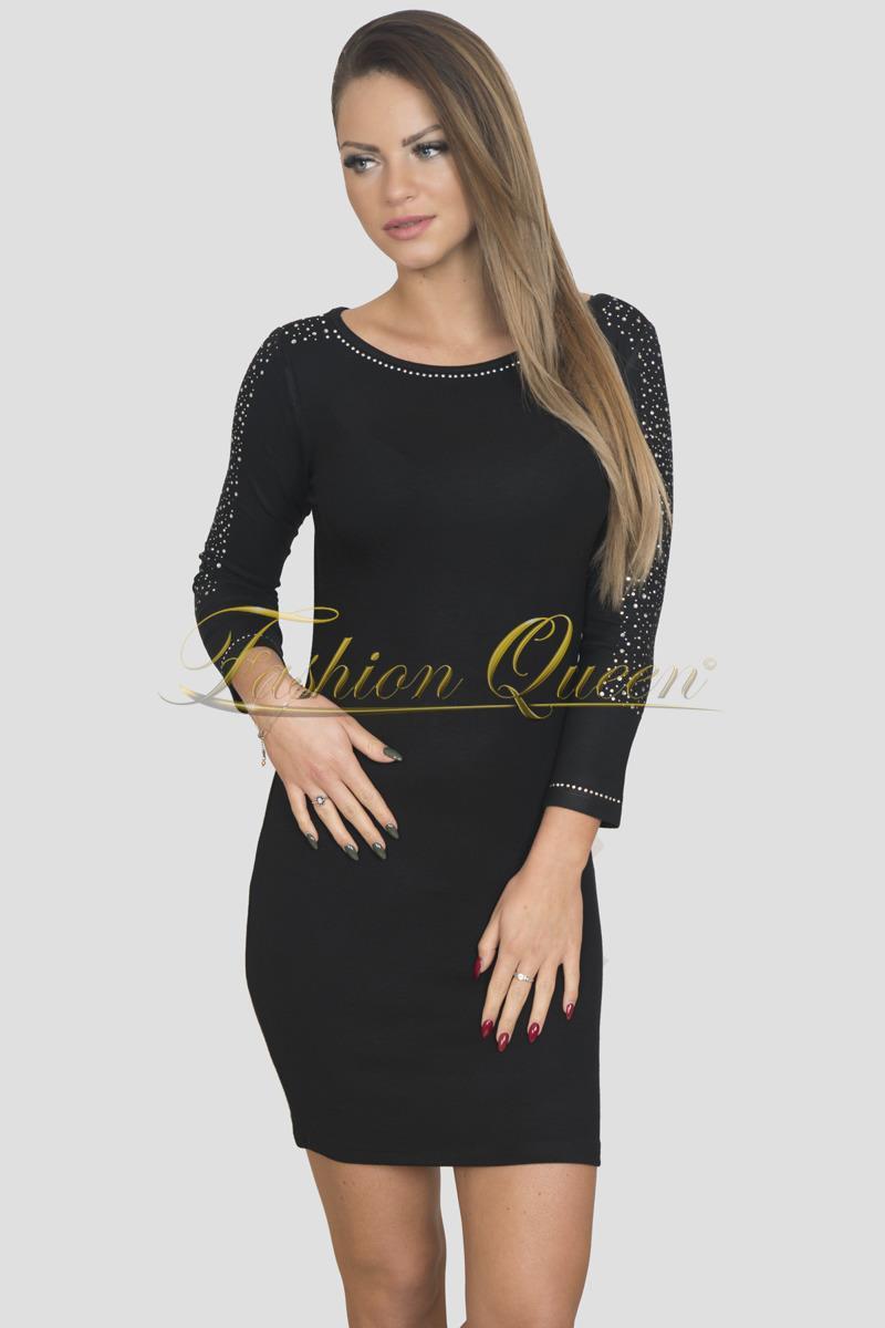 2edf7fd80005 Fashion Queen - Dámske oblečenie a móda - Čierne šaty s kamienkami