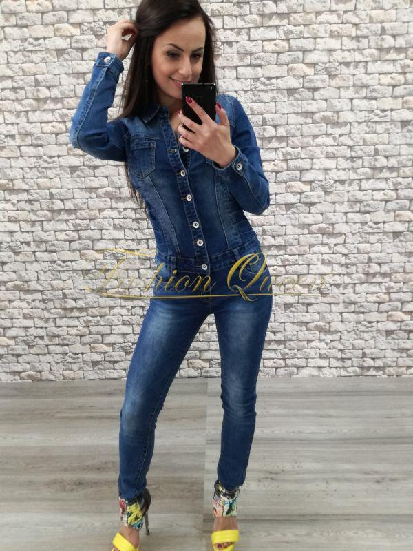 173a5d4dff54 Fashion Queen - Dámske oblečenie a móda - Rifľový overal dlhý