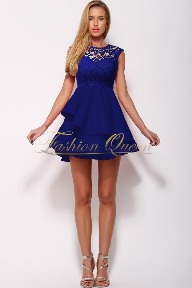 Fashion Queen - Dámske oblečenie a móda - Áčkové šaty s čipkou 532af30116b