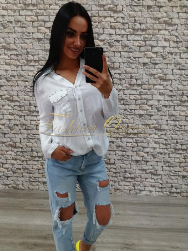 d9c5b287905f Fashion Queen - Dámske oblečenie a móda - Biela blúzka