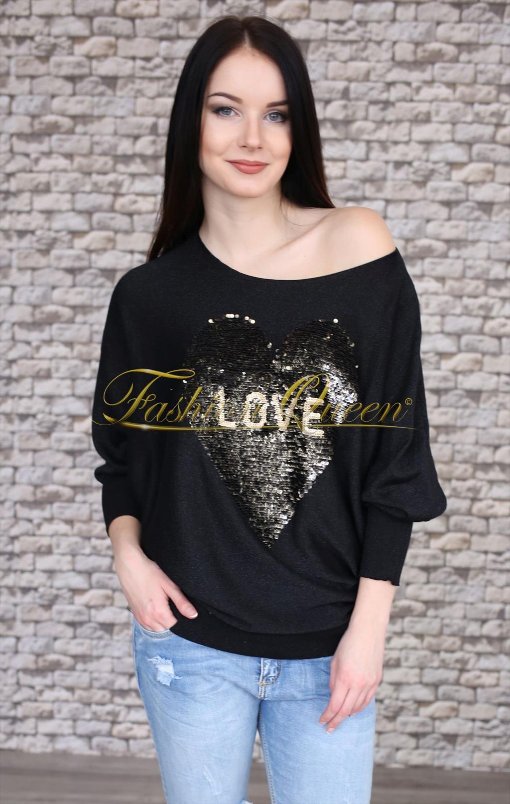 1166b45629bb Fashion Queen - Dámske oblečenie a móda - Sveter so srdiečkom