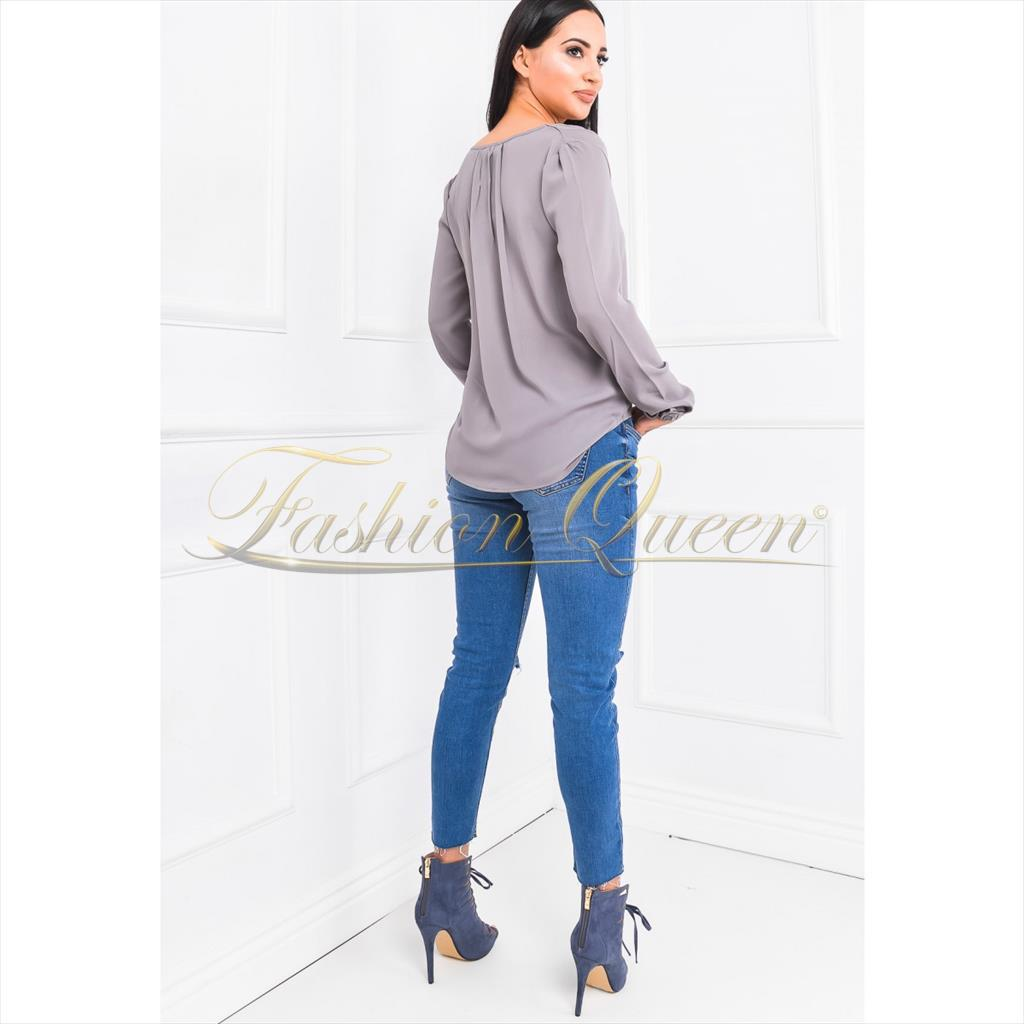 """979d6ab7081f Fashion Queen - Dámske oblečenie a móda - Biela blúzka s """"V"""" výstrihom"""