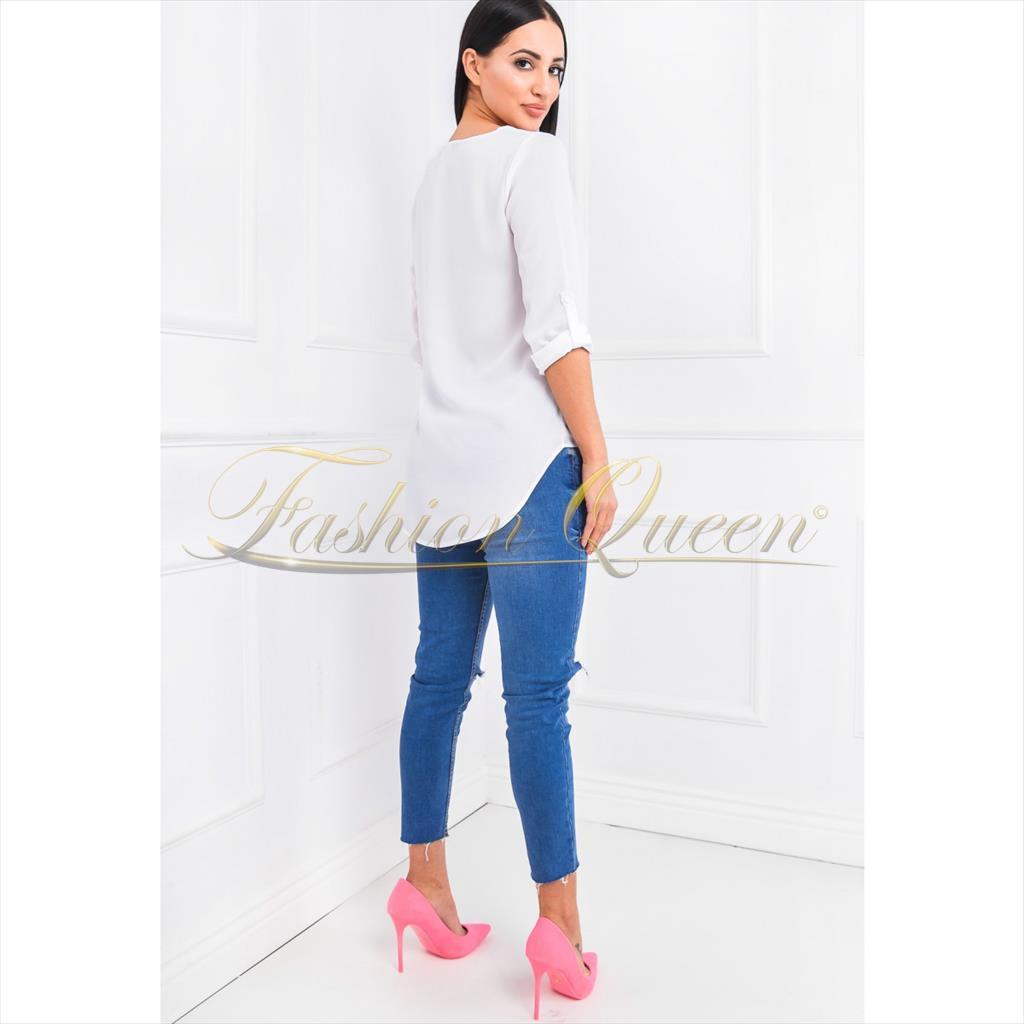0da6698000b7 Fashion Queen - Dámske oblečenie a móda - Blúzka vzadu predĺžená