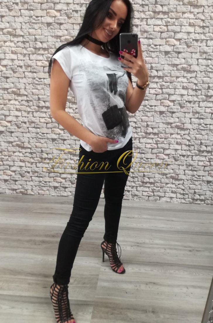 42ccbc24e86e Fashion Queen - Dámske oblečenie a móda - Čierne nohavice s dierami ...