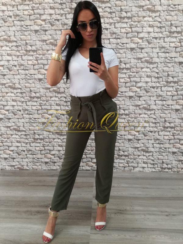 1ae9a4915361 Fashion Queen - Dámske oblečenie a móda - Khaki nohavice