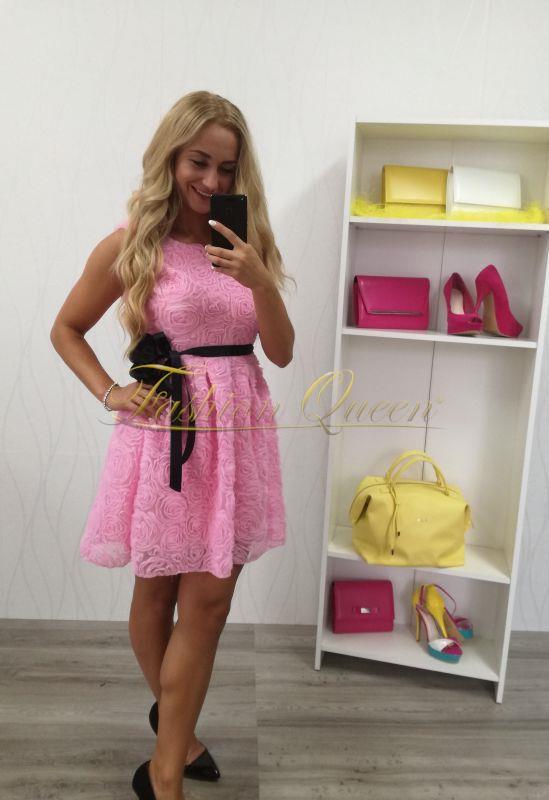 7dc07aff6766 Fashion Queen - Dámske oblečenie a móda - Ružové šaty s opaskom