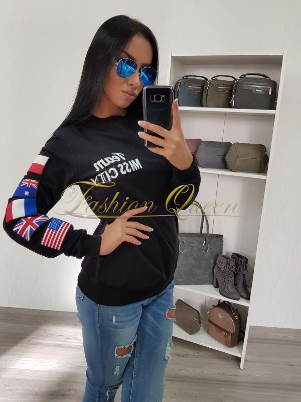 48a7b9550233 Fashion Queen - Dámske oblečenie a móda - Mikina s nášivkami