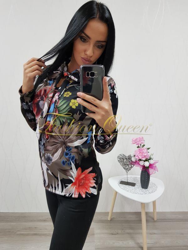 39be99f15d Fashion Queen - Dámske oblečenie a móda - Kvetovaná blúzka s mašľou