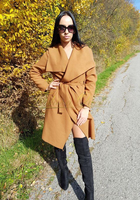 Fashion Queen - Dámske oblečenie a móda - Prechodný kabát dlhý ace5aa2eea7