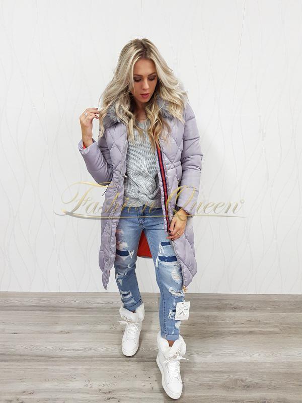 Fashion Queen - Dámske oblečenie a móda - Dlhá zimná vetrovka 2ecc1ed7c96