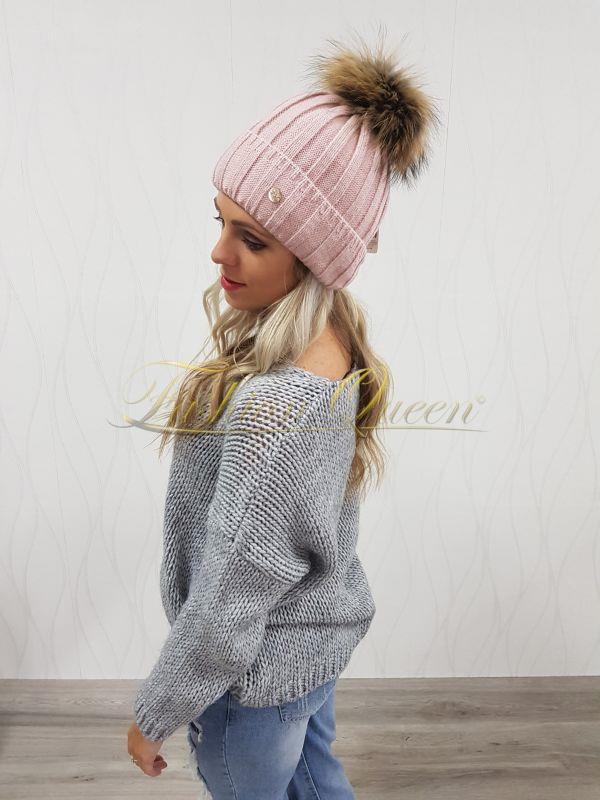 923ff4beb Fashion Queen - Dámske oblečenie a móda - Čiapka a šál s pravou ...