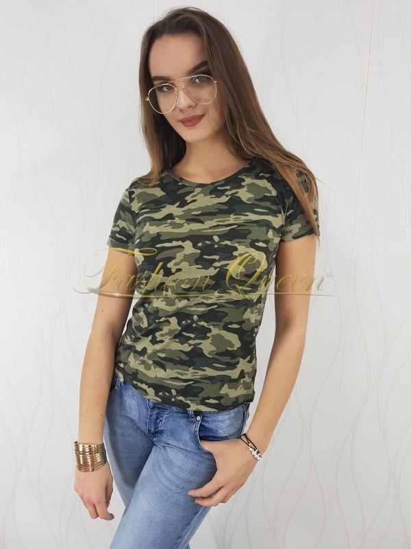 9df5fd2d3 Fashion Queen - Dámske oblečenie a móda - Maskáčové tričko