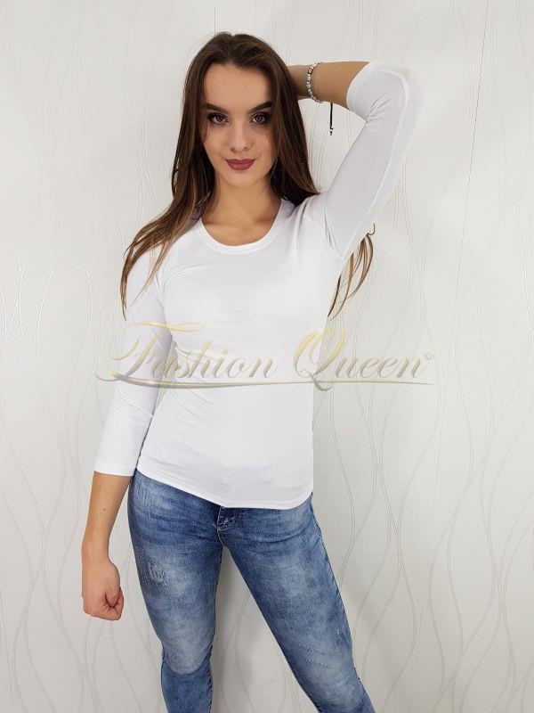 8175db657a97 Fashion Queen - Dámske oblečenie a móda - Biele tričko s ¾ rukávom