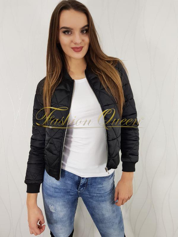 424fc60a594e Fashion Queen - Dámske oblečenie a móda - Čierna bomberka