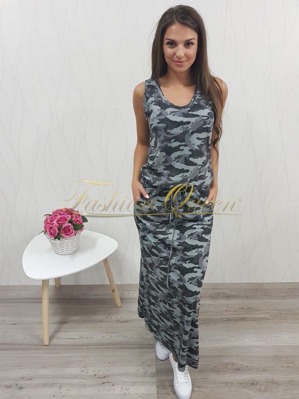 eea5efd41b0d Fashion Queen - Dámske oblečenie a móda - Maskáčové maxi šaty