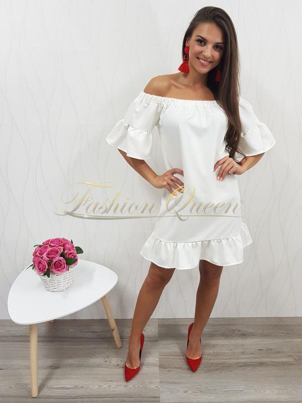 Fashion Queen - Dámske oblečenie a móda - Šaty s volánom 0e08eb2f124