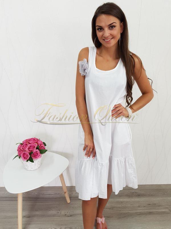e6ee449c8252 Fashion Queen - Dámske oblečenie a móda - Oversize šaty s kvetom