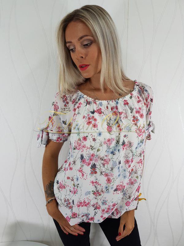 f02630209d93 Fashion Queen - Dámske oblečenie a móda - Kvetovaná blúzka