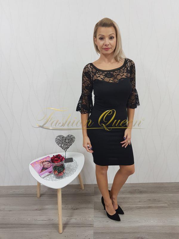 ca5eb67fd77c Čierne šaty s čipkou