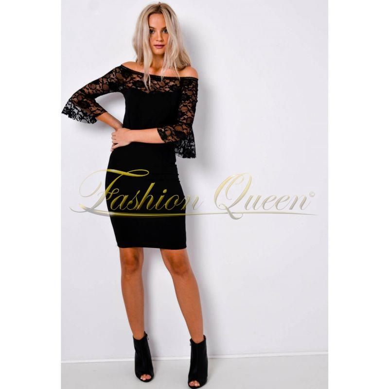 b9dd09ea46c3 Fashion Queen - Dámske oblečenie a móda - Čierne šaty s čipkou